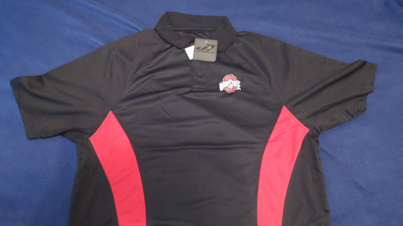 Primary image for Ohio State Buckeyes Black & Scarlet  Pique Xtra-Lite Performance Polo Shirt