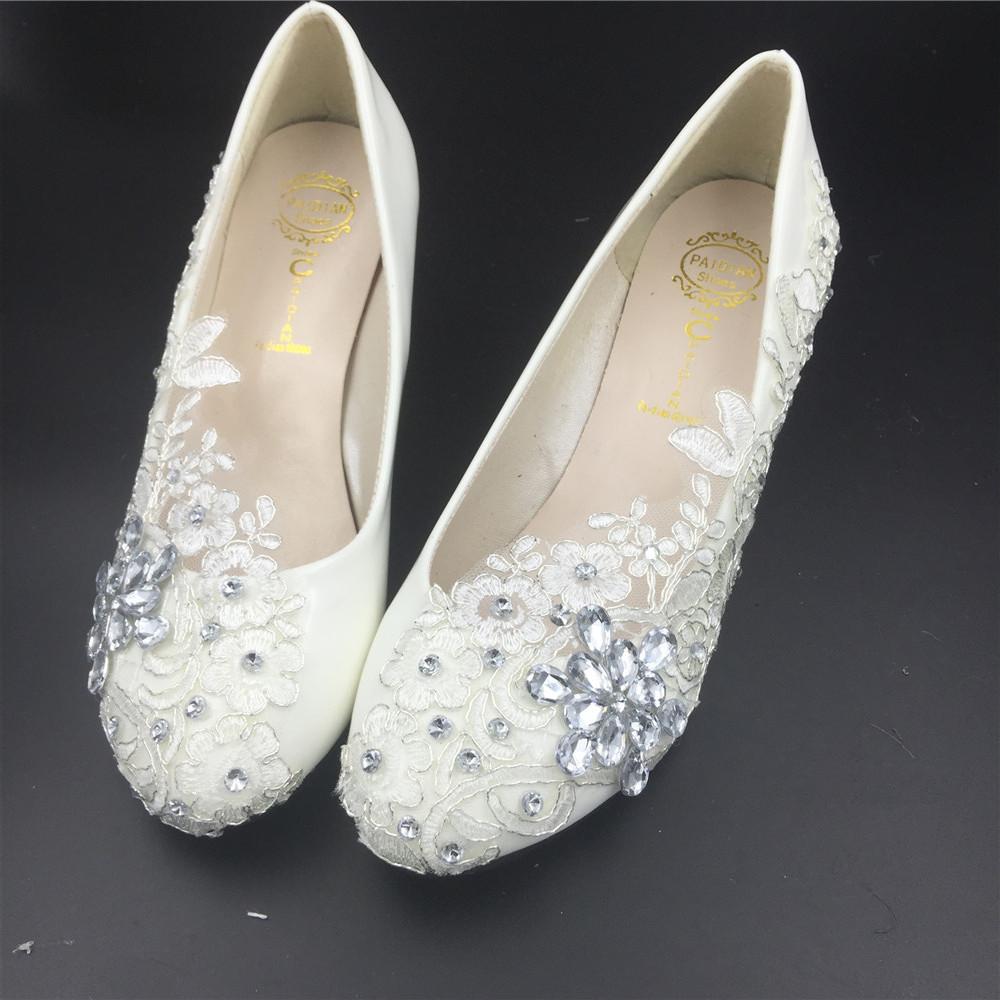 Women Wedding Wedges Shoes/Ladies Bridal Wedges Shoes,Wedding Low Heels Wedges image 2