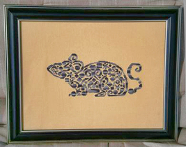 Tribal Mouse monochrome cross stitch chart White Willow stitching - $6.30
