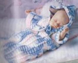 Preemie Baby Bunting Crochet Pattern - $7.99