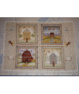At Home by Valorie Evers Wenk Prim Folk Art Saltbox House Fabric Panel - $7.00