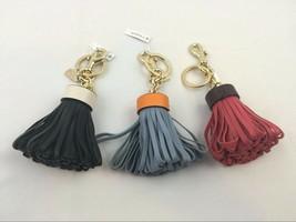 NEW Coach Leather Tassel Bag Charm Key Fob F58505 $70 - $29.99