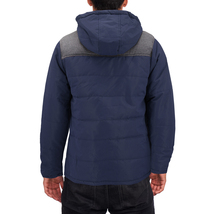 Men's Heavyweight Water And Wind Resistant Removable Hood Insulated Jacket image 3