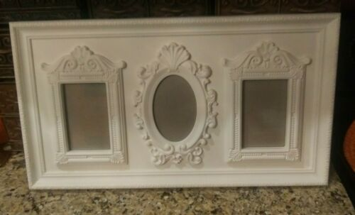 "Primary image for 24"" Victorian~Cottage~  Shabby Chic~ Trio~ (3) 4""x6"" Picture Frames in a Frame!"