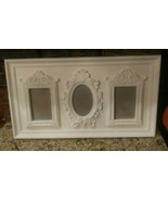 """24"""" Victorian~Cottage~  Shabby Chic~ Trio~ (3) 4""""x6"""" Picture Frames in a Frame!  - $23.76"""