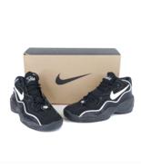 NOS Vintage 90s Nike Air Flight Basketball Sneakers Shoes Black White Me... - $138.55
