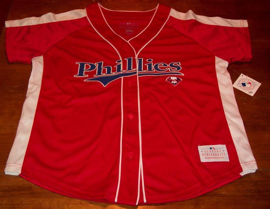 WOMEN'S MISSES PHILADELPHIA PHILLIES MLB BASEBALL JERSEY LARGE NEW w/ TAG