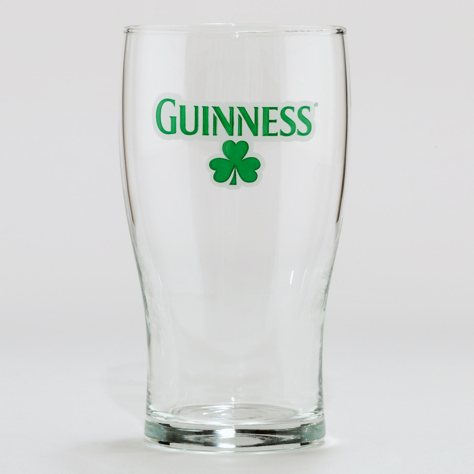 Primary image for Unique GUINNESS Shamrock Beer Glass 13 oz. capacity W/ free coasters