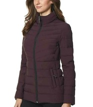 32 Degrees Women's 4-Way Stretch Puffer Jacket Light Weight Eggplant Size XLarge image 2