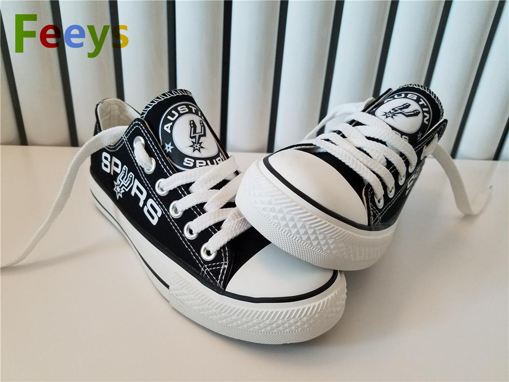 san antonio spurs shoes spurs sneakers women fashion Basketball fans canvas shoe
