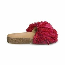 Ugg Cindi Ribbon Red Slide Yarn Fringe Womens Flip Flops Sandals Size Us 7.5 New - $94.99