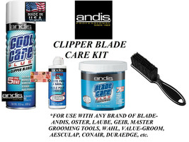 ANDIS CLIPPER BLADE CARE MAINTENANCE SPRAY,DIP WASH,OIL/LUBE KIT-Cleaner... - $59.99