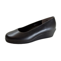 24 HOUR COMFORT Sofie Women's Wide Width Leather Wedge Shoes - $44.95