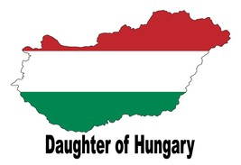 Daughter of Hungary Hungarian Country Map Flag Poster High Quality Print - $6.90+