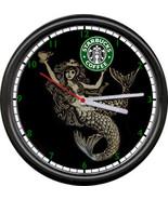 Starbucks Coffee Latte Espresso Shop Stand Old Mermaid Logo Sign Wall Clock - $21.12