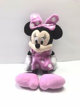 "Minnie Mouse Disney Plush! 16"" Pink White Polka Dots - $19.79"