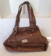 Kenneth Cole New York Brown Bronze Pebbled Leat... - $41.82