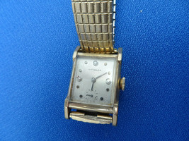 Vintage Wittnauer 73/REVUE Diamond Accent Dial Square Gold Filled Watch Runs - $195.00