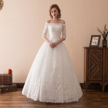Off Shoulder Women Wedding Dress Lace Fashion Party Bridal Gowns Pricess... - $165.00