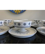 Rosenthal Tapio Wirkkala 6 Ice Blossom 1960s Pedestal Cream Soup Cups & ... - $155.00