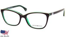 NEW EMPORIO ARMANI EA 3053 5351 BROWN / GREEN EYEGLASSES FRAME 52-17-140... - $68.30