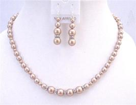 Champagane Pearls Sparkling Rondells Spacer Jewelry For Gift Wedding - $43.93