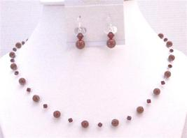 Jewelry of Passion in Wine Red Bordeaux Pearls Siam Red Crystals - $26.38