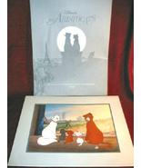 Disney ARISTOCATS 1996 Commemorative Lithograph Framed - $19.99