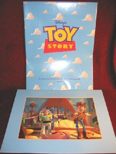 Disney TOY STORY 1996 Commemorative Lithograph Framed