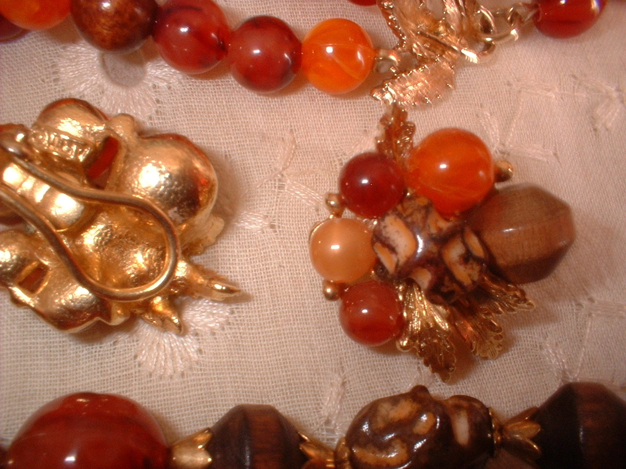 "Vintage Jewelry Necklace Earring Set Marked ""ART"""