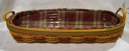 Longaberger 2000 Small Harvest Blessings Basket w/ Liner and Protector C... - $38.17