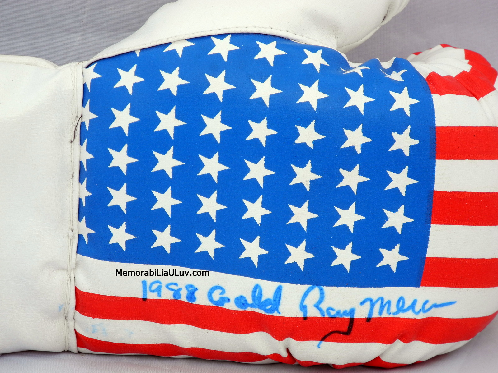 Ray Mercer Merciless Signed Autographed Team USA Boxing Glove image 3