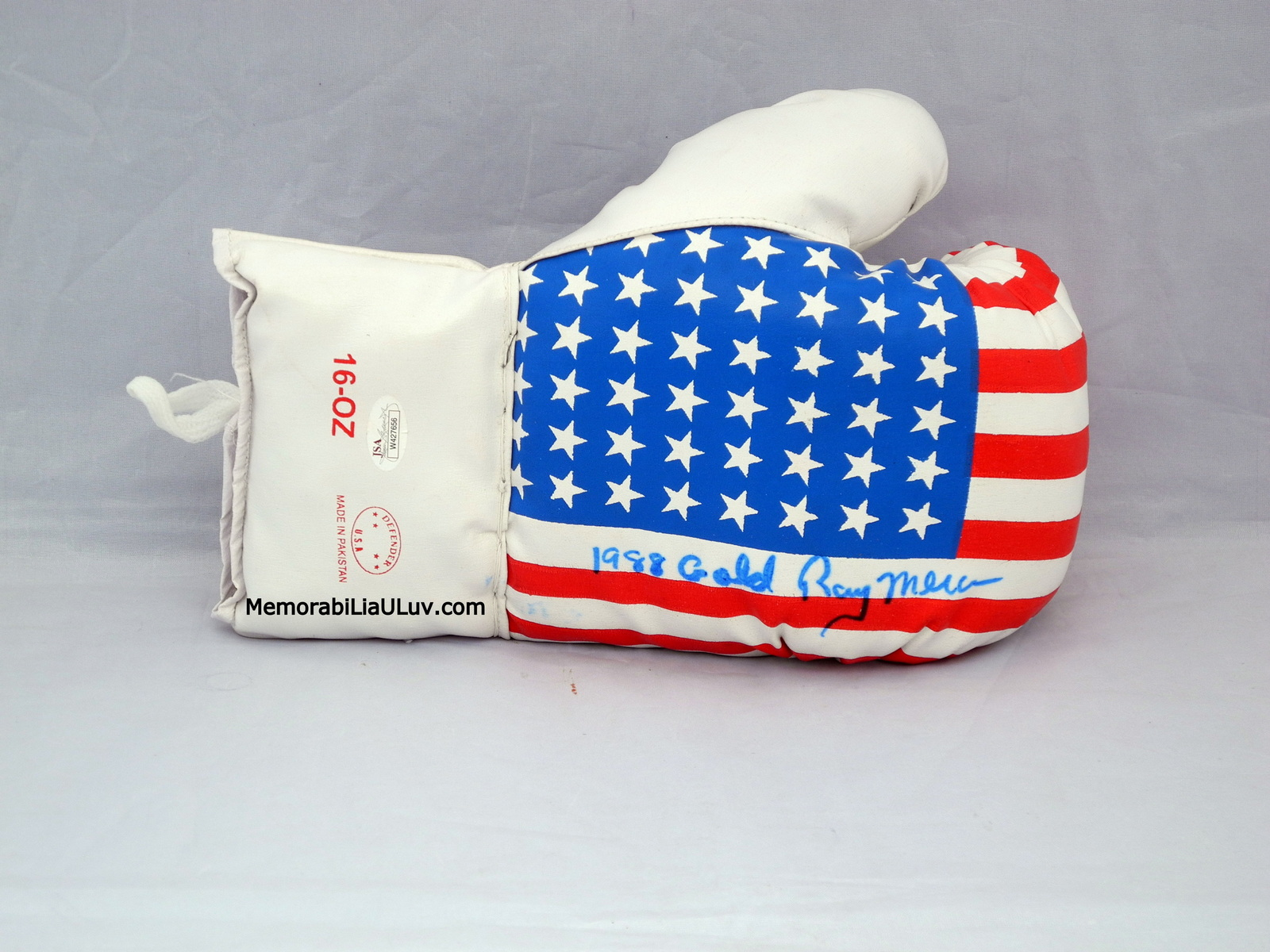 Ray Mercer Merciless Signed Autographed Team USA Boxing Glove image 4