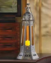 12 Tall Amber Lantern Candleholder Table Decor Wedding Centerpieces image 1