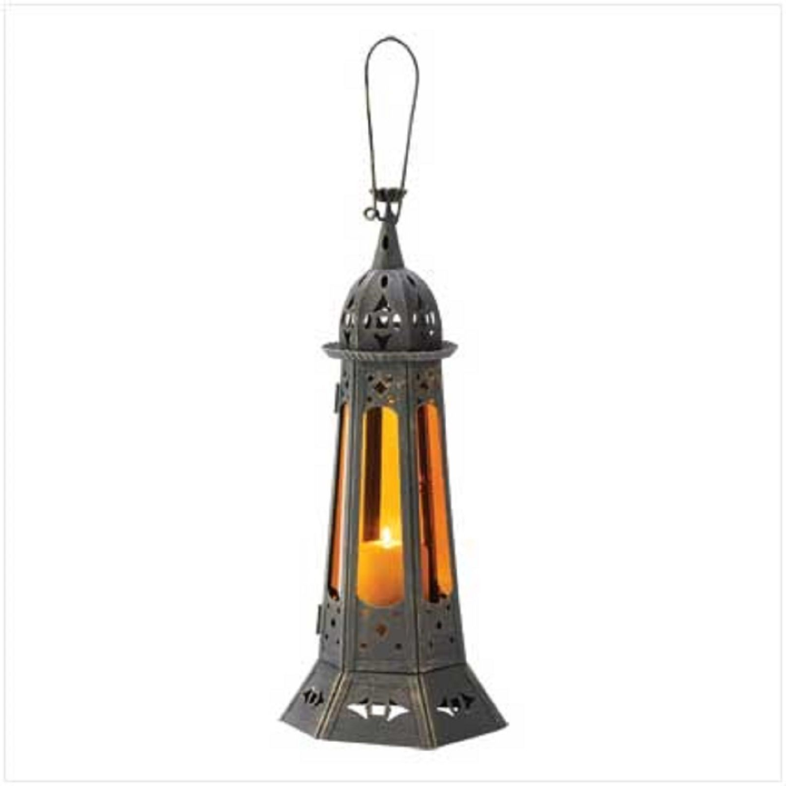 12 Tall Amber Lantern Candleholder Table Decor Wedding Centerpieces