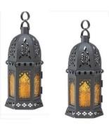 6 Yellow Black Lantern Moroccan Style Wedding Centerpieces - $39.00