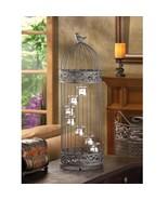 1 BLACK LARGE CANDLE Lantern Birdcage Wedding CENTERPIECES - $29.65