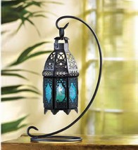 "12 Black Blue Lantern Candleholder Wedding Centerpieces 13"" Tall - $143.55"