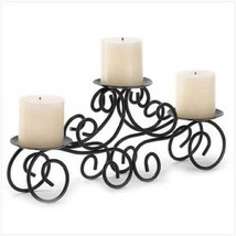 "2 Wedding LARGE Black CANDLE Holder Table decor CENTERPIECES 17"" Wide - ... - $38.95"