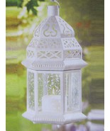 "6 WHITE LARGE Candle LANTERN WEDDING CENTERPIECES 15"" TALL - $129.00"