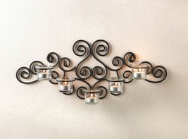 Black Sconce Candleholder - New image 1