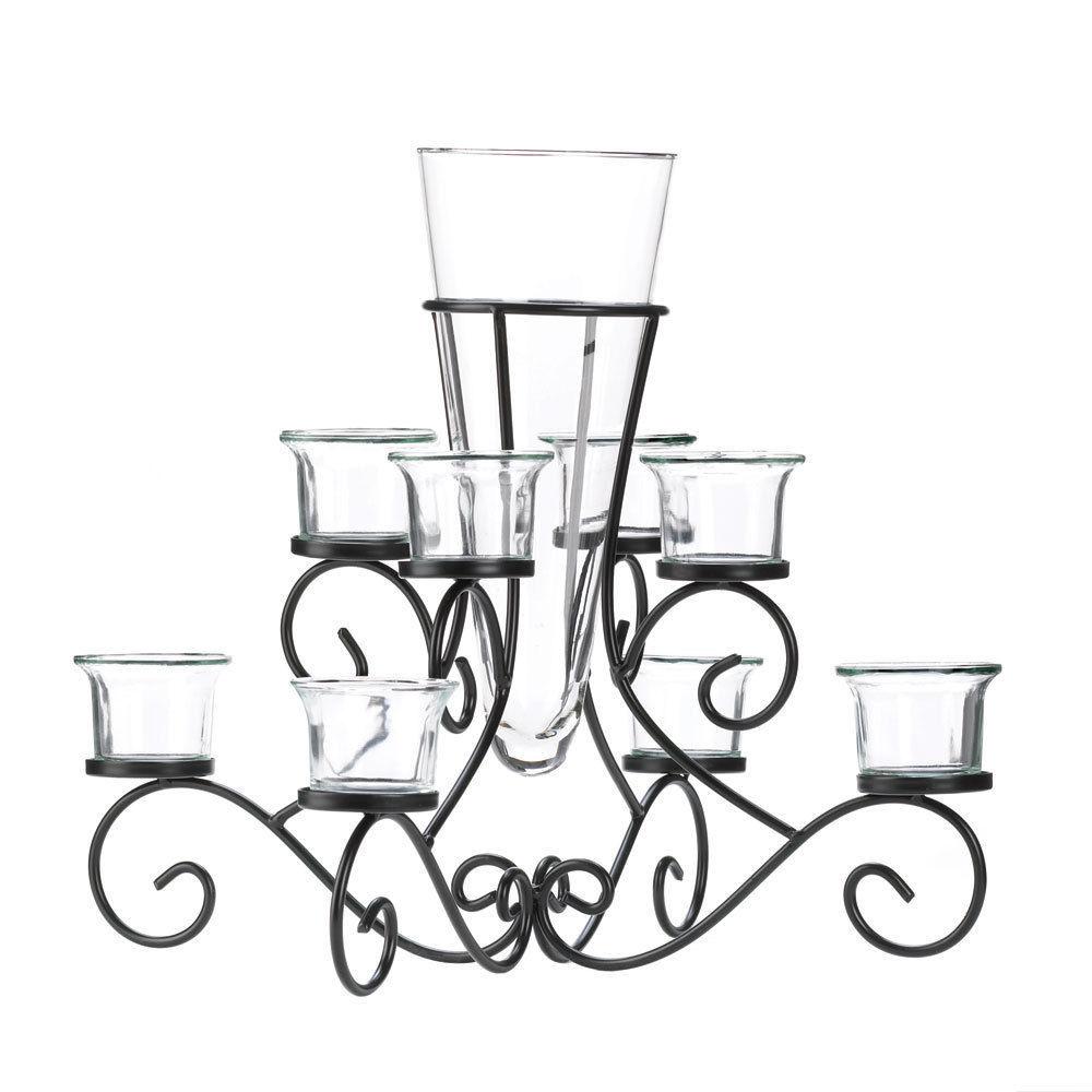 2 Large Black Candelabra Candle Holder Table Decor Wedding Centerpieces image 2