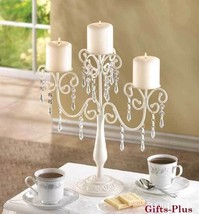 10 IVORY Jeweled CANDELABRA Eevent Decor Wedding CENTERPIECES - $227.15