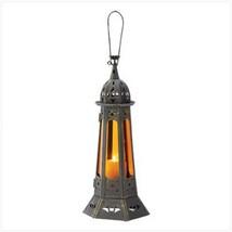 10 Tall Amber Lantern Candleholder Table Decor Wedding Centerpieces image 2