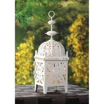 10 Creamy White Scrollwork Candle Lantern Wedding Centerpieces - $69.00