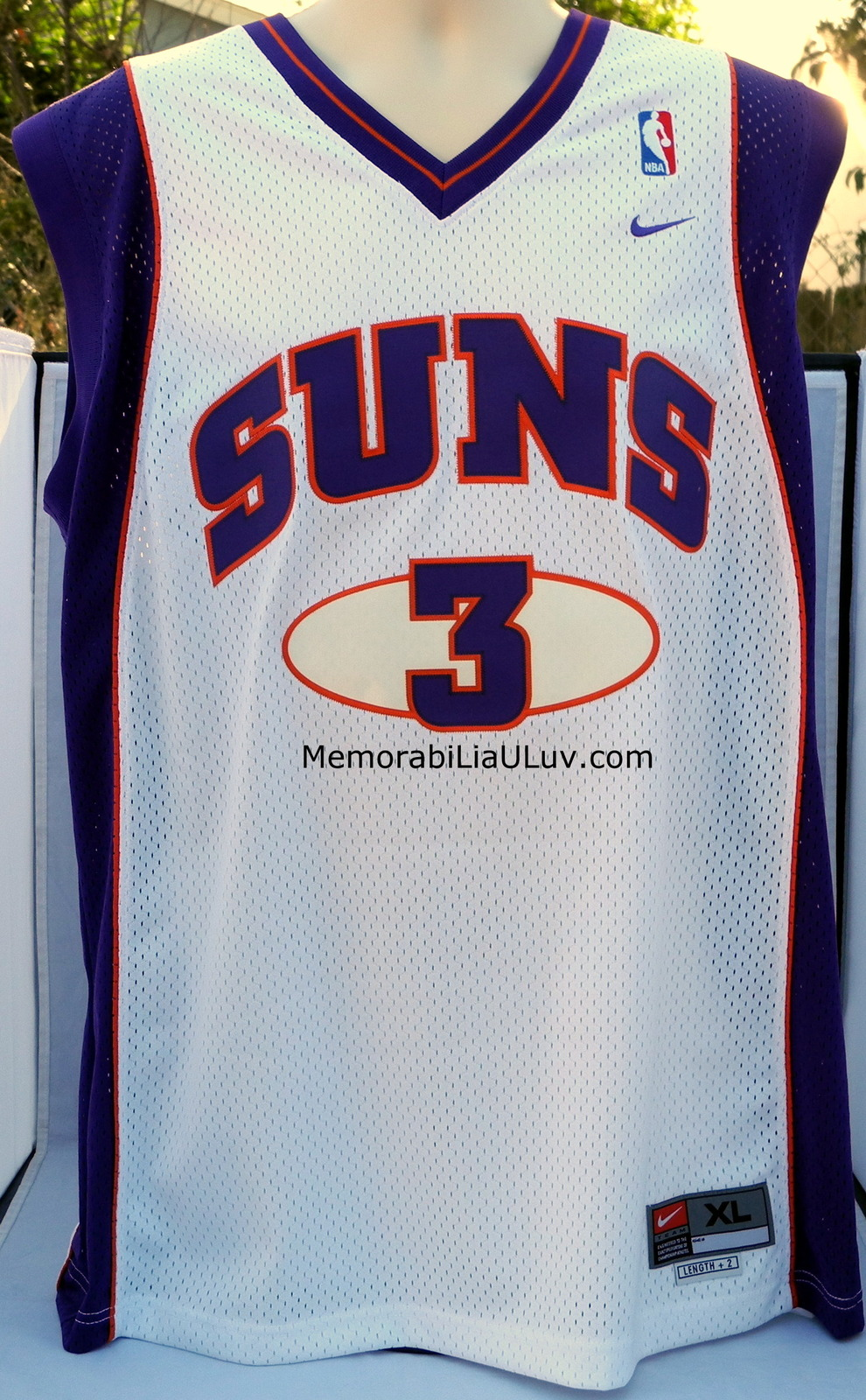 Stephon Marbury Signed Phoenix Suns Jersey White X-Large NBA