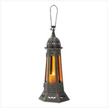 """4 AMBER MOROCCAN TOWER LANTERN WEDDING CENTERPIECES 22"""" TALL image 1"""
