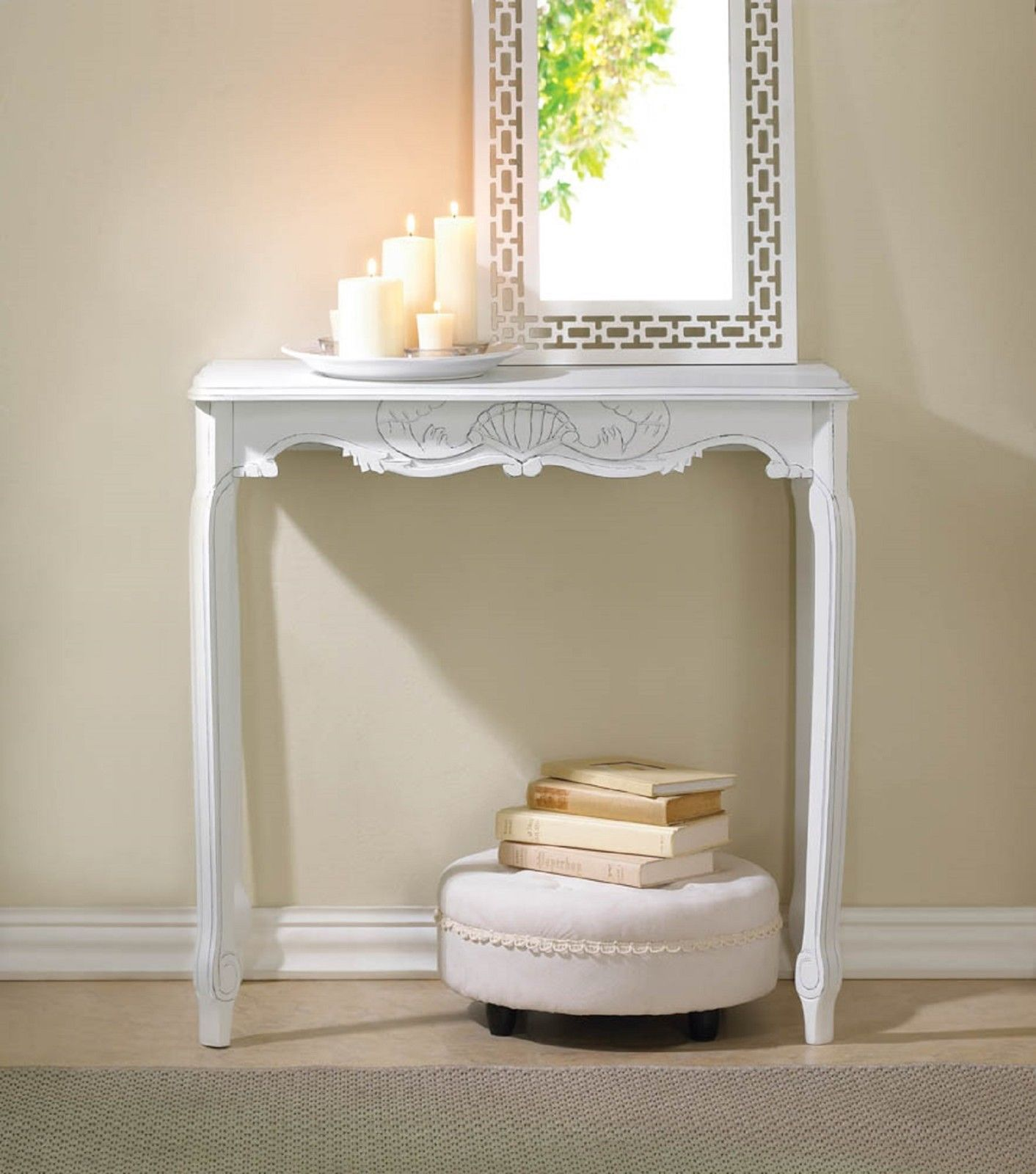 Hall Console White Table - New