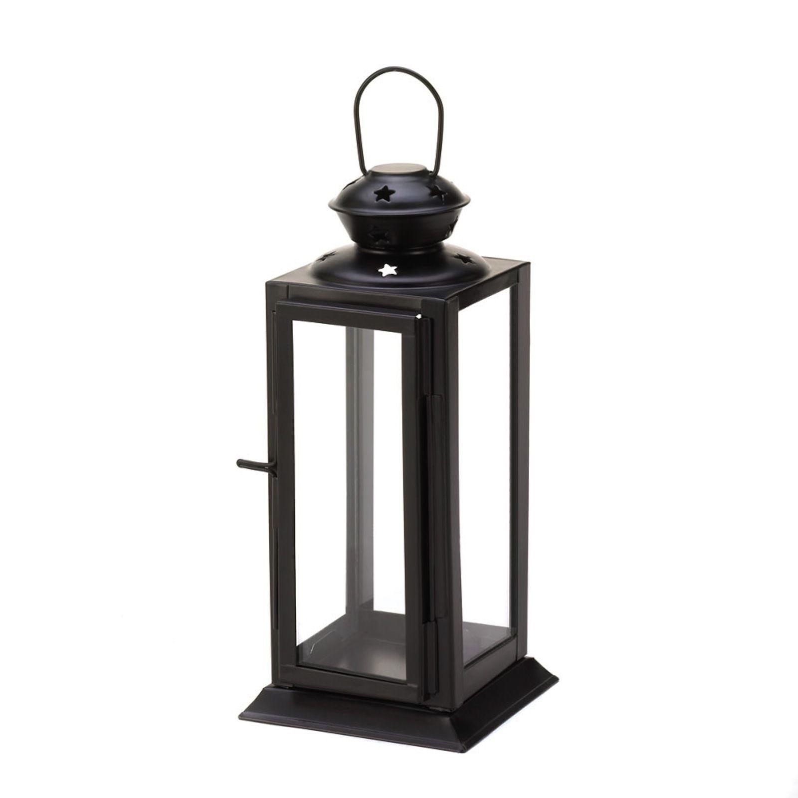 10 BLACK Lantern Candle Holder WEDDING Centerpieces image 2