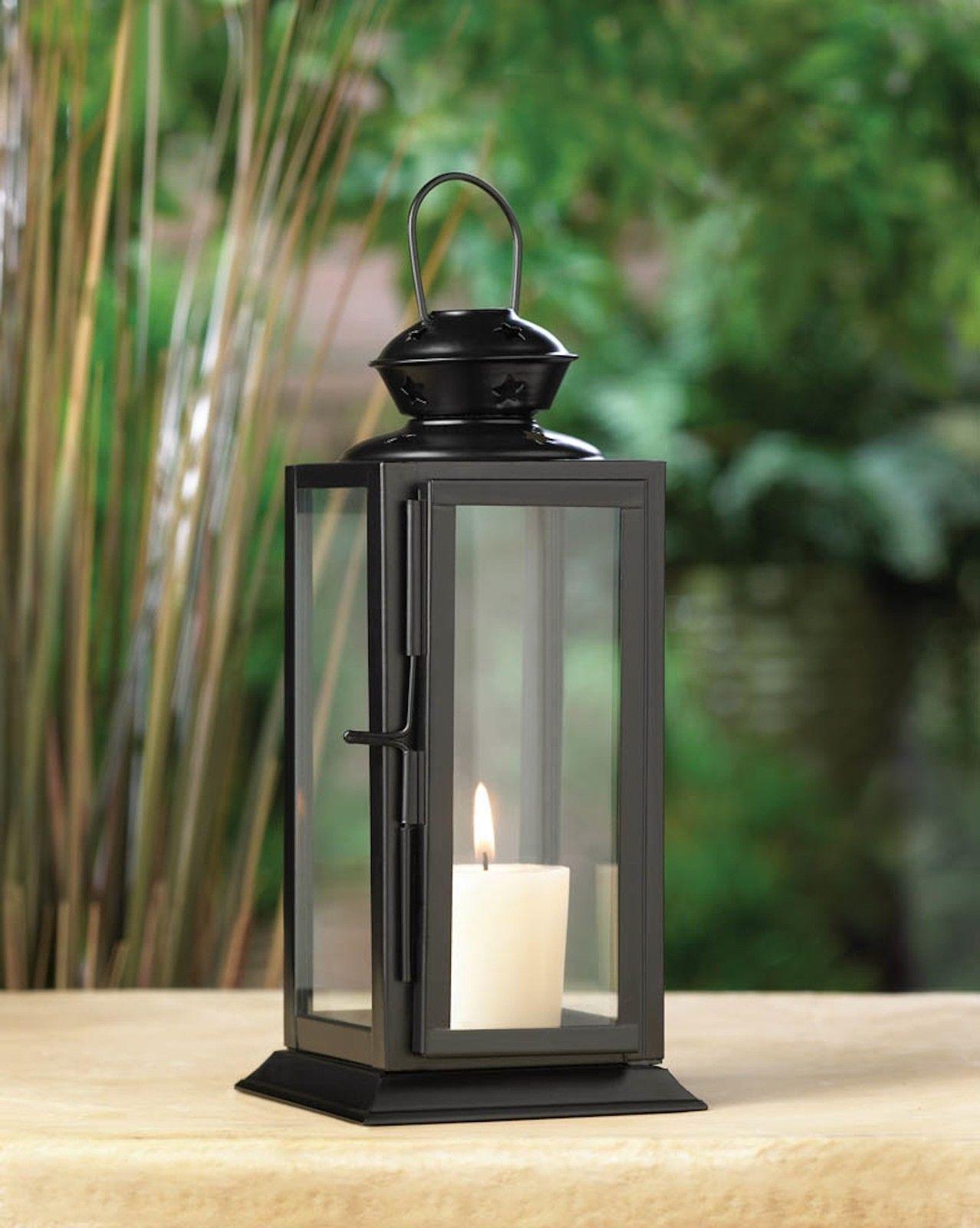 10 BLACK Lantern Candle Holder WEDDING Centerpieces